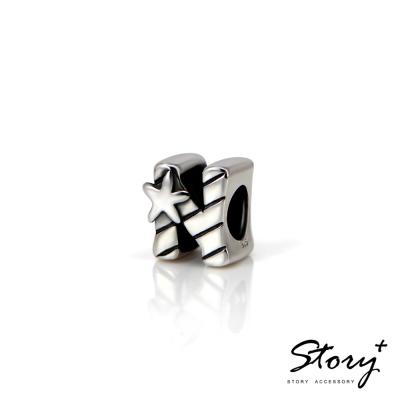 STORY故事銀飾-串珠墜飾-字母珠 N