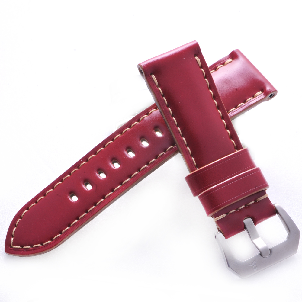 TED SU 太和錶帶 凡爾賽玫瑰Panerai 沛納海代用帶紅色米色線-26*24mm