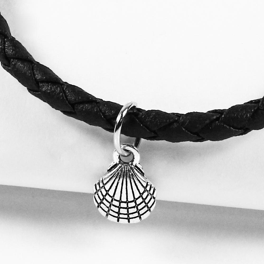 A1寶石  聚寶盆貝殼-Endless混搭元素-仿真皮繩編織手鍊(含開光)