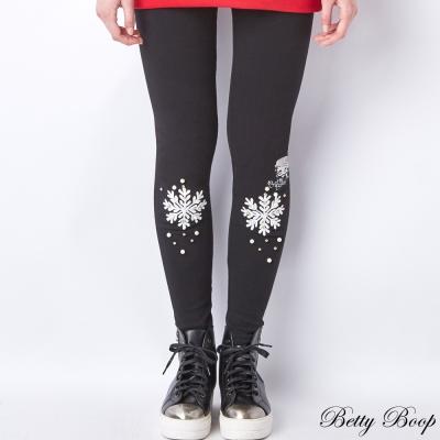 Betty Boop 雪花珍珠彈性內搭長褲(共二色)