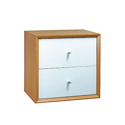 品家居 格吉1尺二抽收納櫃(三色可選)-30x30x30cm免組