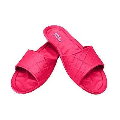 HOME WORKING 第二代 EVA環保室內拖鞋/桃紅色