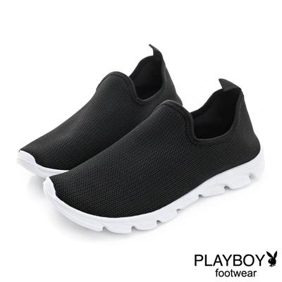PLAYBOY 城市悠活 舒適超輕量休閒便鞋-黑(女)