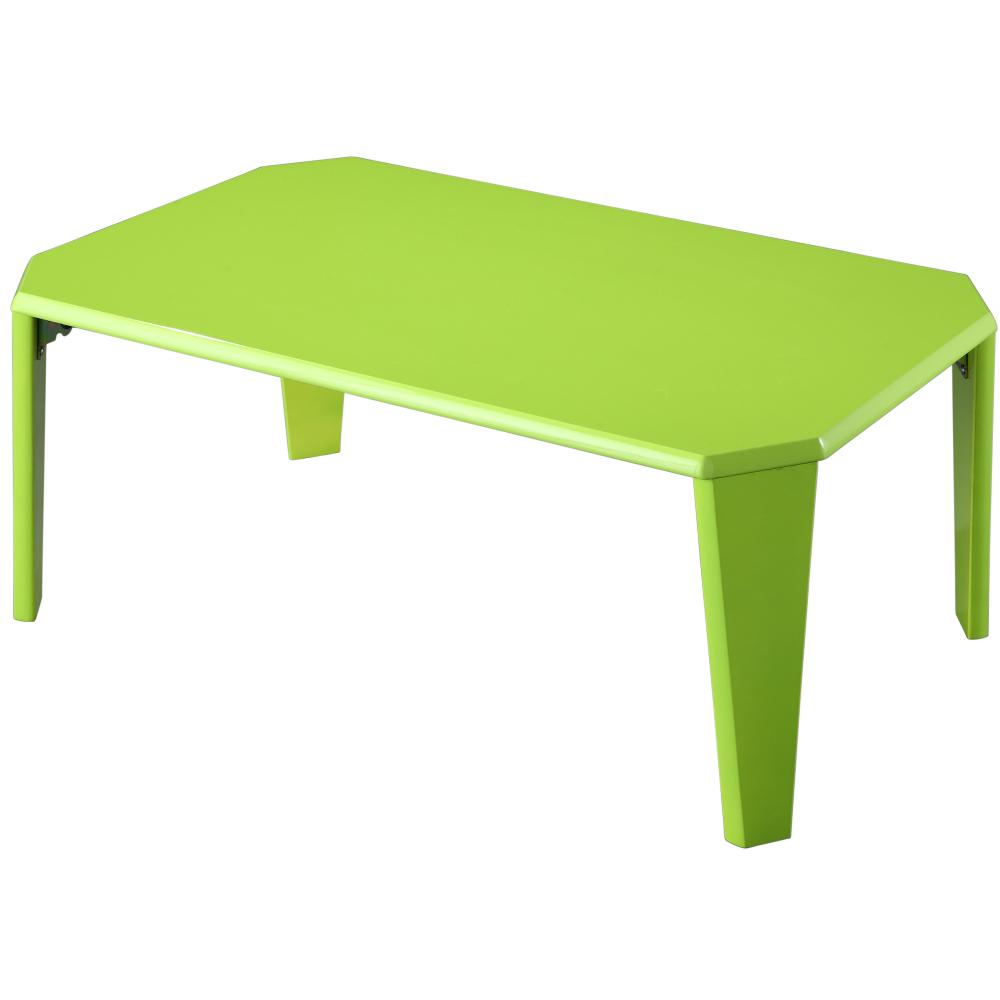 EASY HOME【魔鏡】鏡面烤漆折疊和室桌(柔和綠)