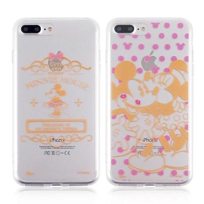 Disney迪士尼iPhone 7 Plus金蒔繪雙料彩繪保護殼-米奇米妮