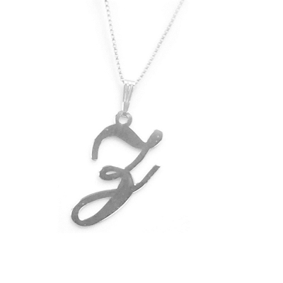 Anna Lou Of London倫敦品牌 Z 個性字母項鍊 銀