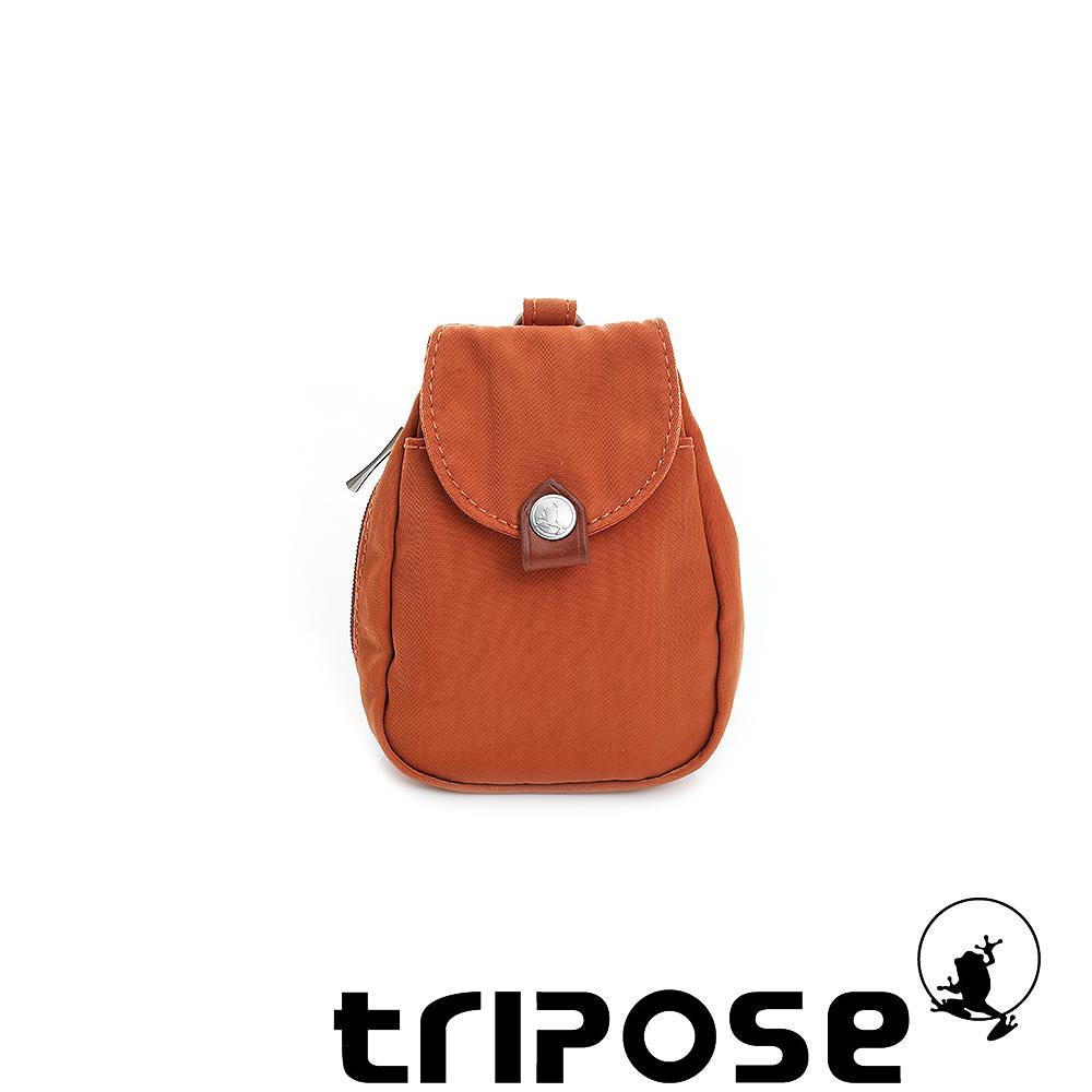 tripose  漫遊系列岩紋鑰匙零錢包- 橘