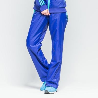 FIVE UP-跳色中厚風衣長褲-女-藍紫