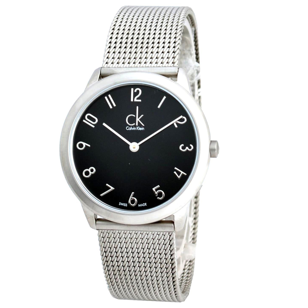 Calvin Klein ck Minimal 米蘭帶腕錶-黑色/36mm