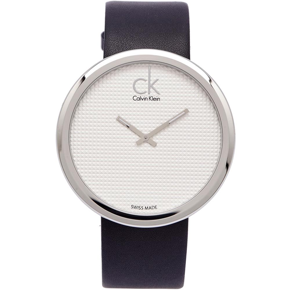 CK 玩美時尚手錶(K0V231C6)-白面X黑色/46mm