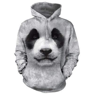 摩達客 美國進口The Mountain 熊貓胖達臉 套頭套頭長袖連帽T恤
