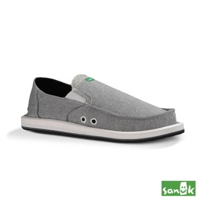 SANUK 口袋TX系列懶人鞋-男款(淺灰色)
