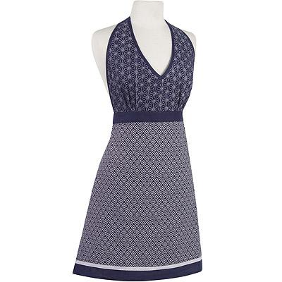 NOW V領圍裙(和風藍)