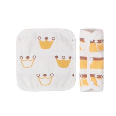 baby童衣 純棉8層紗布安全帶保護套口水巾兩入組 60332