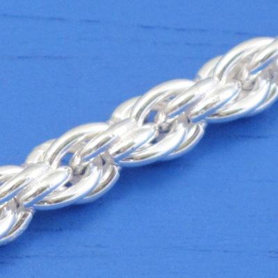 維克維娜 24吋純銀特粗版5.5mm麻花鍊。義大利925純銀單鍊