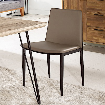 Boden-傑曼斯簡約現代皮革餐椅/單椅-49x53x78cm