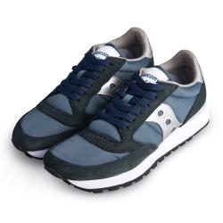 (女) 美國 SAUCONY 經典時尚休閒輕量慢跑球鞋-藍銀