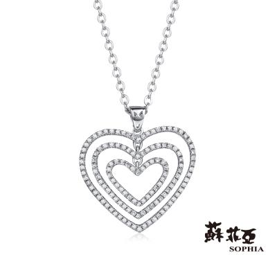蘇菲亞SOPHIA 鑽鍊 - Romantic系列  愛心造型鑽石項鍊