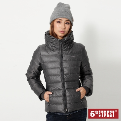 5th STREET 前衛造型領羽絨外套-女-灰色