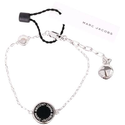 Marc Jacobs Enamel Logo Disc 銀琺瑯圓牌手鍊(黑色)