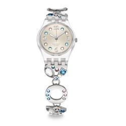 Swatch 銀色彩蝶手錶