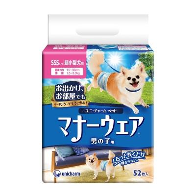 日本Unicharm消臭大師 禮貌帶-男用(SSS)(52片/包)