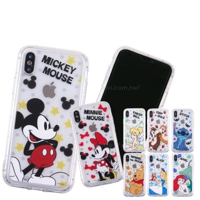 Disney迪士尼 iPhone X 玻璃保護貼(正反)+ 空壓邊框