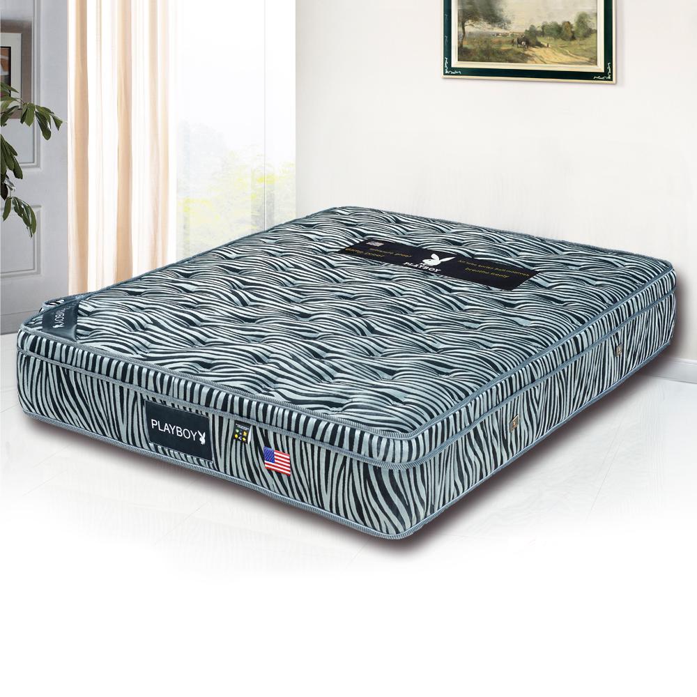 PLAYBOY 三線黑斑馬硬式獨立筒床墊-特大6x7呎