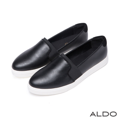 ALDO-彈性舒心原色鬆緊帶式休閒樂福便鞋-尊爵黑