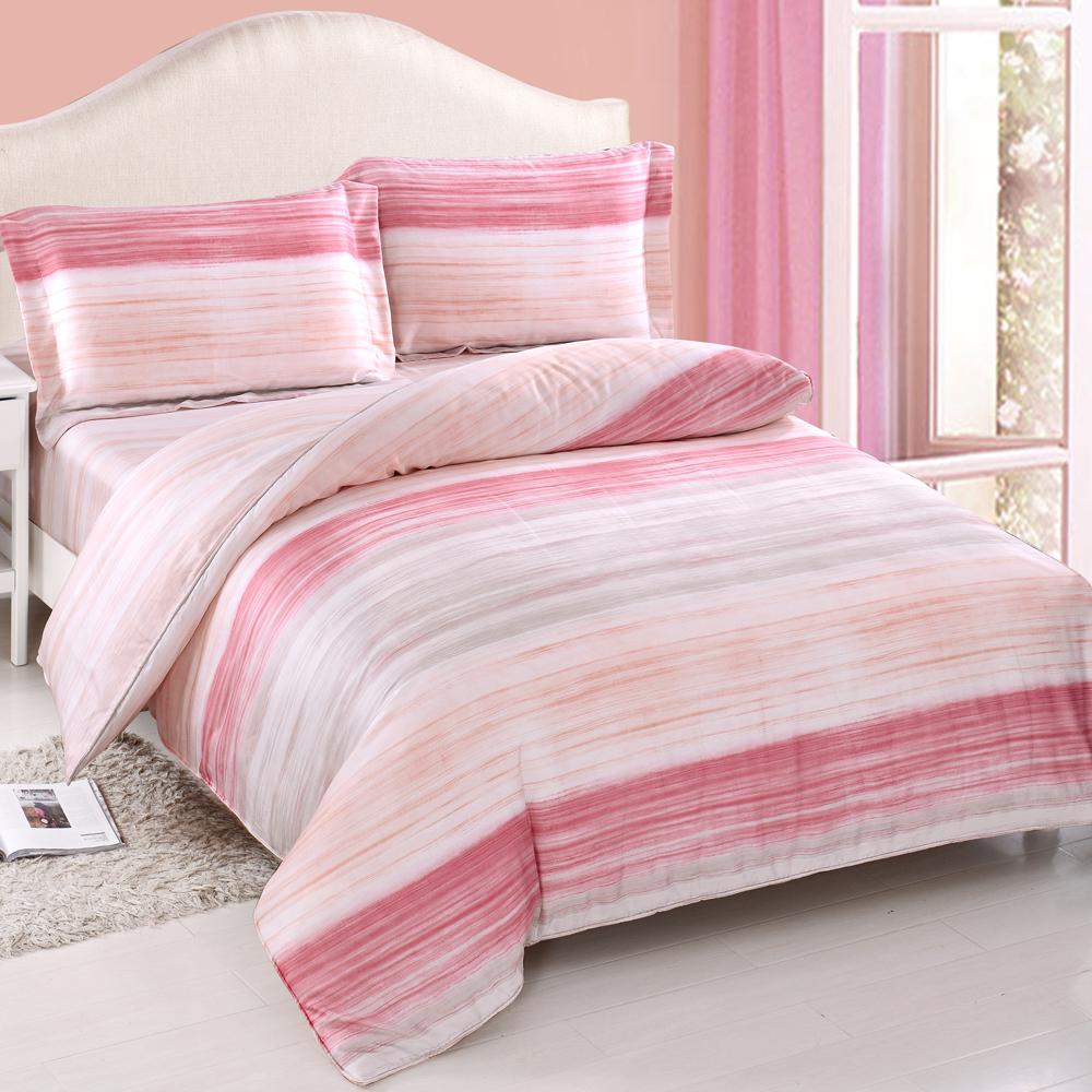 DON粉色歲月 加大四件式天絲兩用被床包組