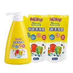 Nuby 奶蔬清潔露組合包_1罐700ml+2包x600ml