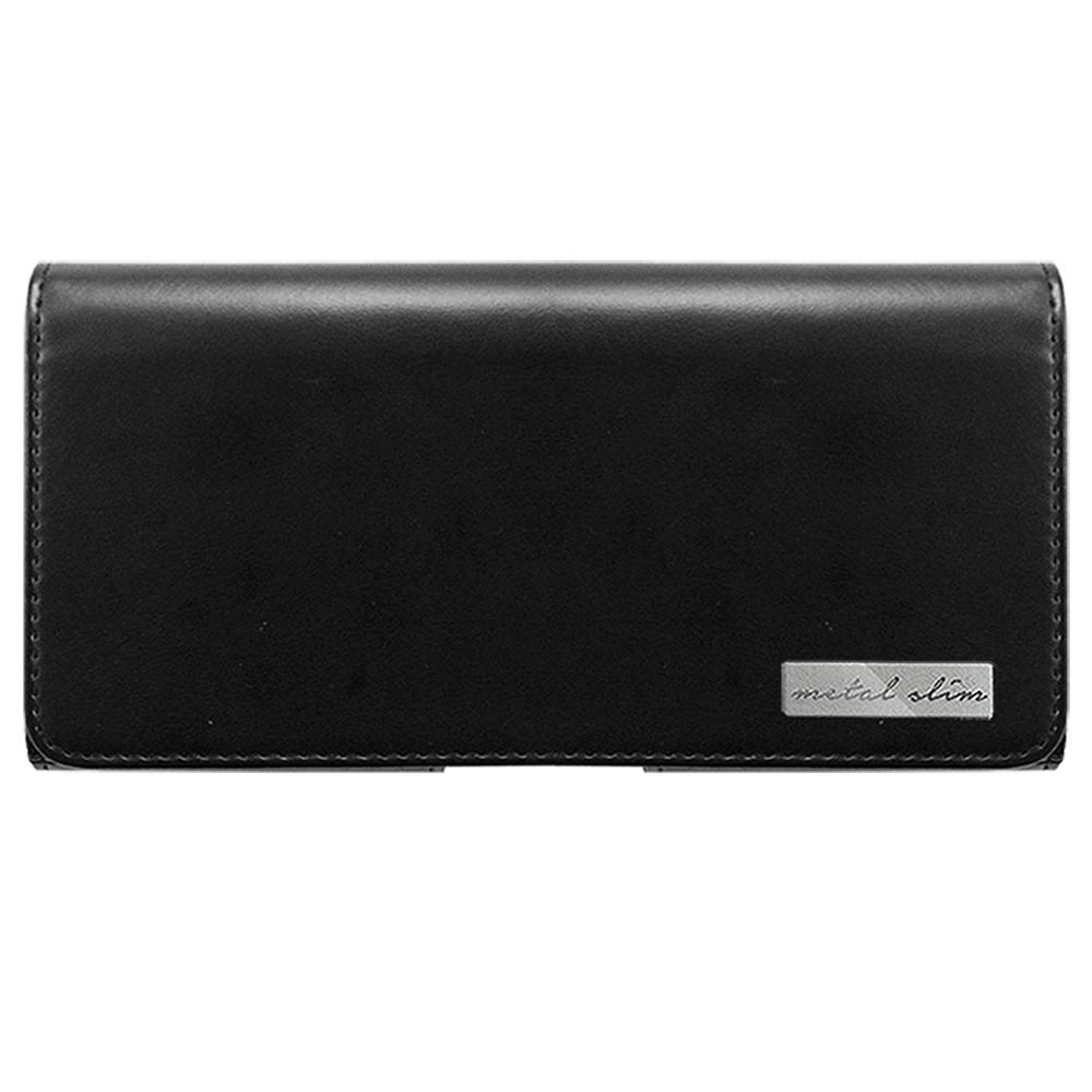 Metal-Slim 安卓手機(5~5.5吋)腰掛式側翻皮套(仿小牛皮款)