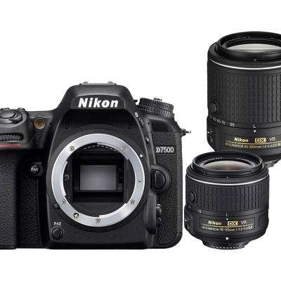 【快】Nikon D7500+18-55mmVR+55-200mmVR II*(平輸中文)