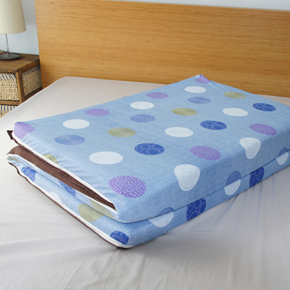 (好康)Saint Rose  單人亞藤蓆天然纖維三折式冬夏兩用床墊-普普風