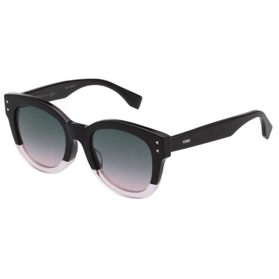 FENDI  雙色 太陽眼鏡 (透明紫+黑色)FF0239FS