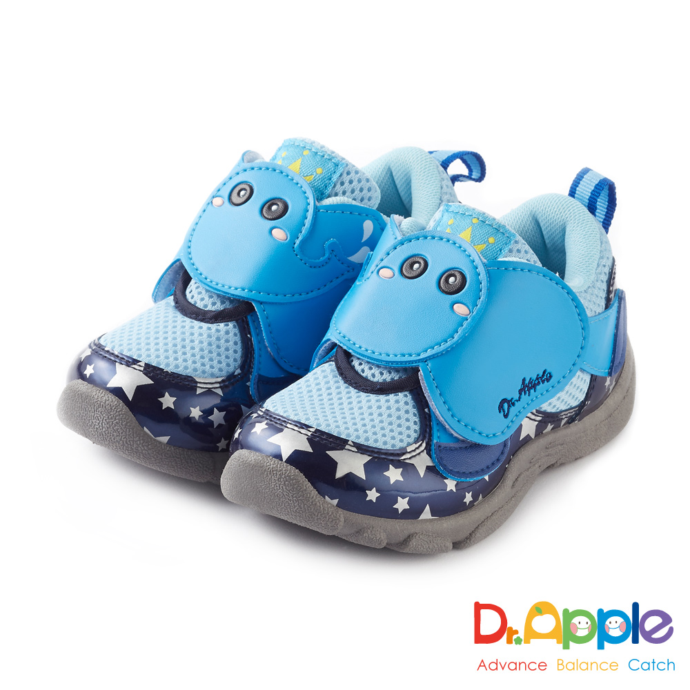 Dr. Apple 機能童鞋 噴水大象飛越星空閃亮亮童鞋款 藍
