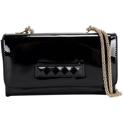 VALENTINO CHAIN 鉚釘肩背/手拿晚宴包(黑色)