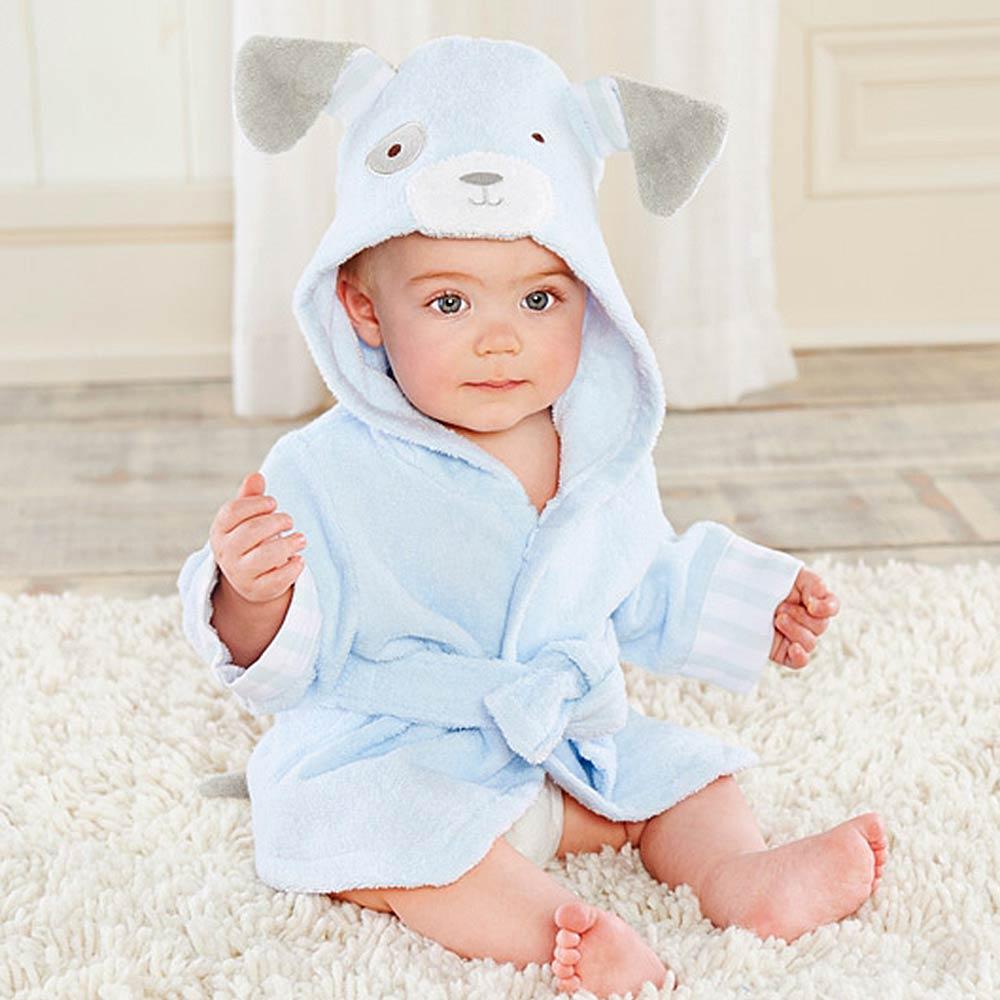 Baby Aspen 藍色狗狗浴袍