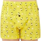 SOLIS 麋鹿公仔系列S-XXL純棉寬鬆四角褲(鵝黃色)