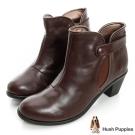 Hush Puppies 180度超軟Q低筒短靴-深咖啡