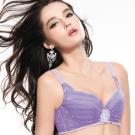 思薇爾 啵時尚系列B-E罩蕾絲包覆內衣(新繹紫)