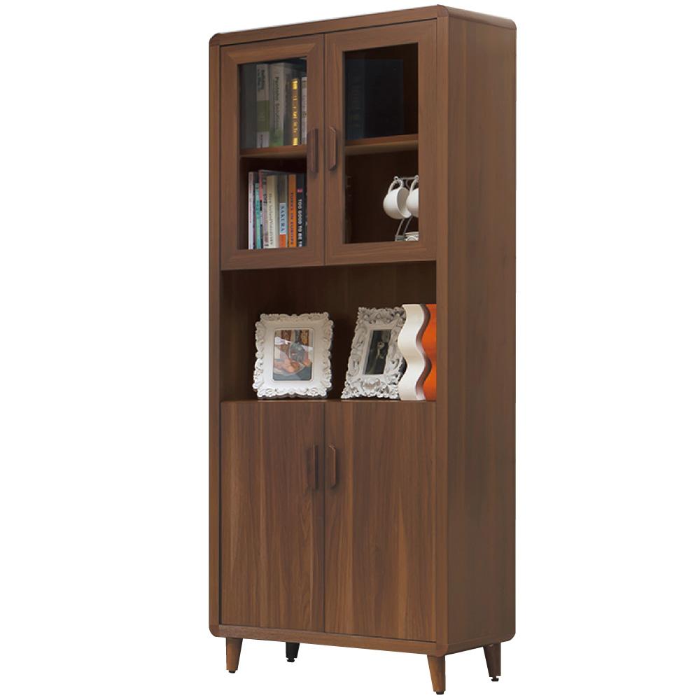 品家居 幸福莊園2.7尺收納書櫃-80.3x40x192cm-免組