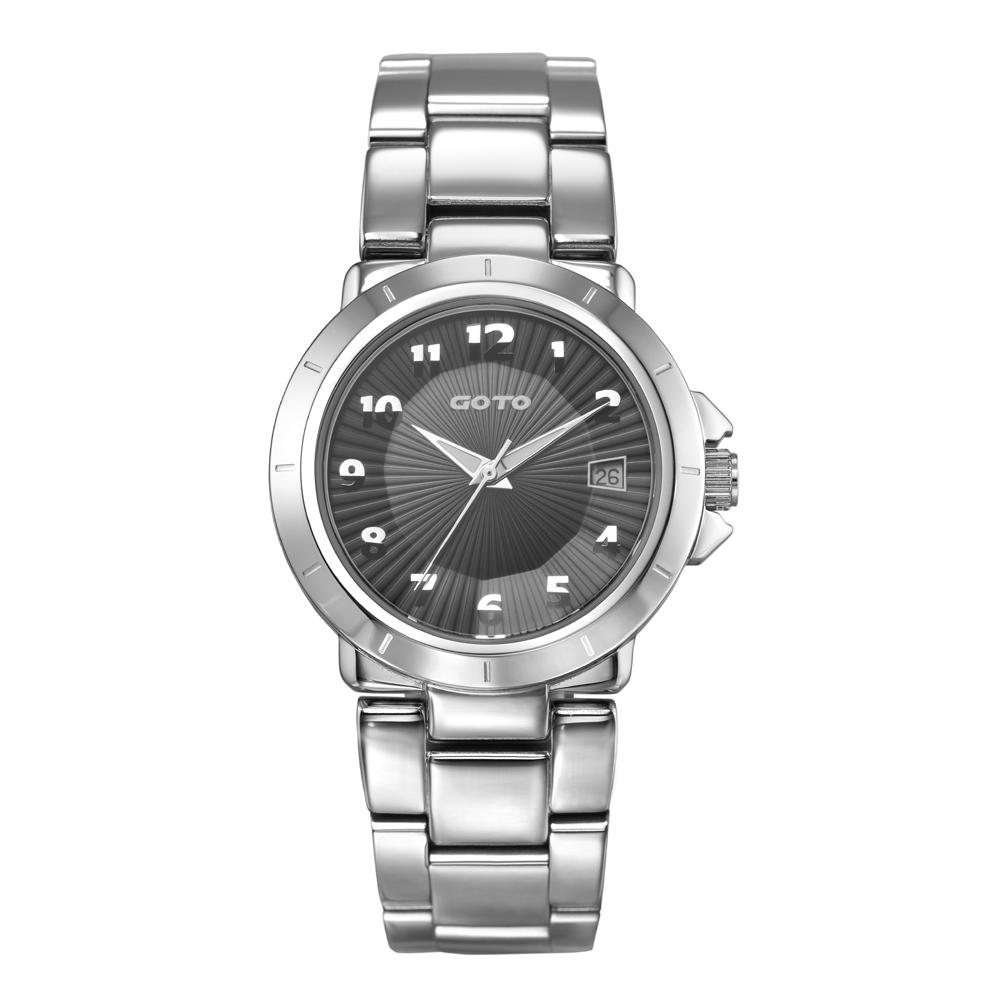 GOTO 都會美學設計腕錶-黑色/35mm