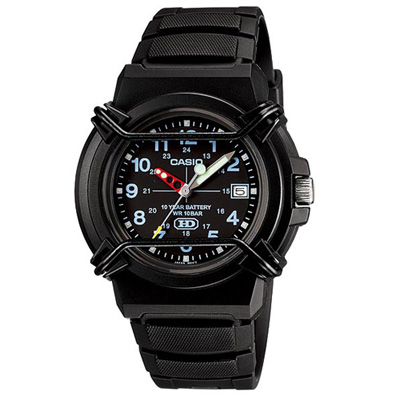 CASIO 新版戰鬥軍旅商用指針錶(HDA-600B-1B)-黑面