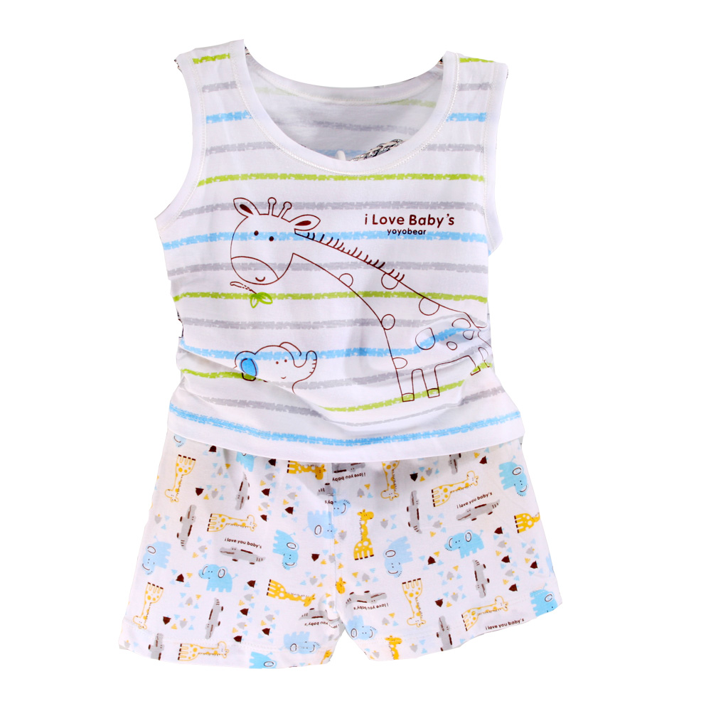 魔法Baby  純棉背心短褲套裝居家服 k35551