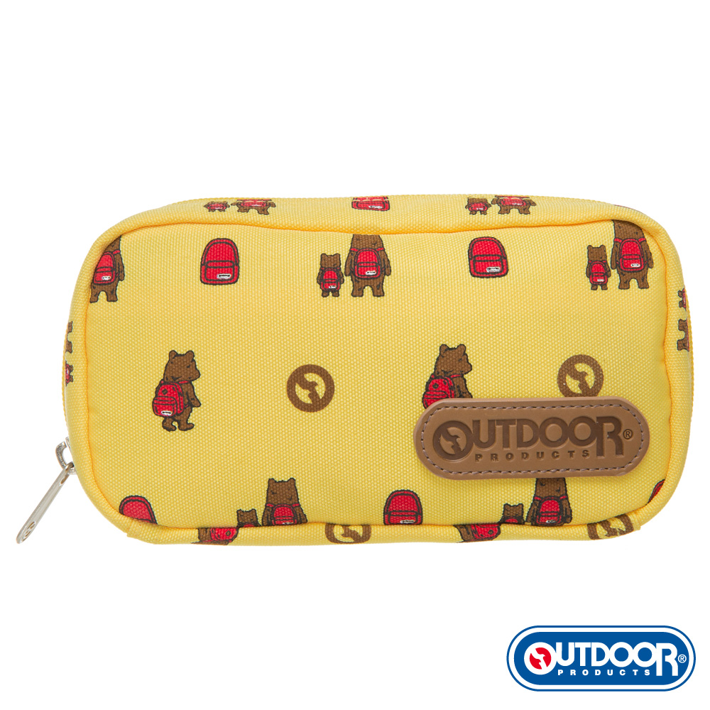 OUTDOOR-有BEAR而來系列-化妝包-黃 ODS162B02YL