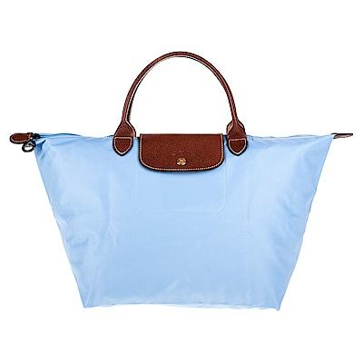 Longchamp Le Pliage 短把摺疊水餃包 (中/灰藍)