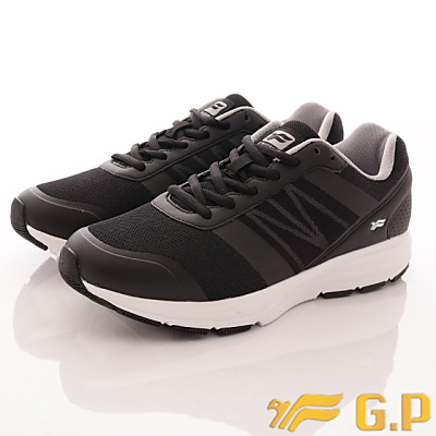 GP時尚潮流-輕量彈力運動鞋款-FI795M-10黑(男段)