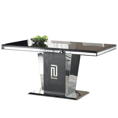 AT HOME-馬汀尼5尺黑晶石原石餐桌