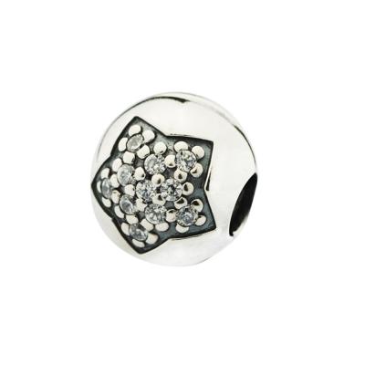【Pandora】夾扣-鑲鋯石大星星墜